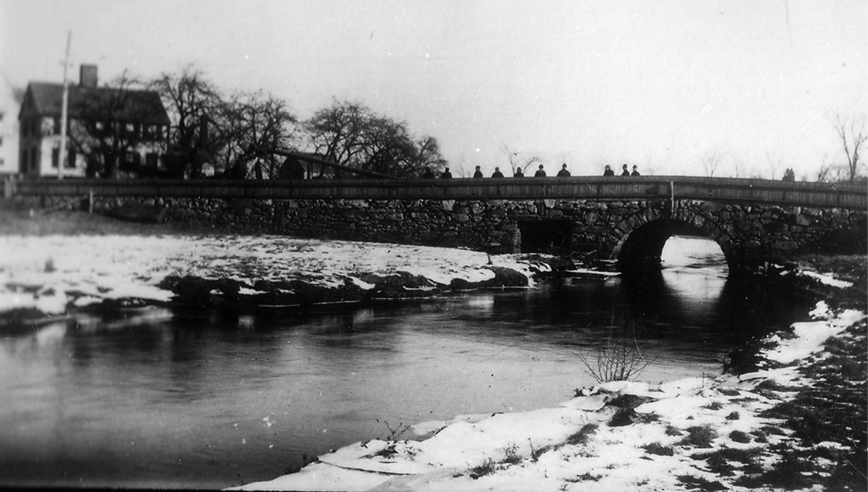 Great Bridge over Jones River, circa 1890