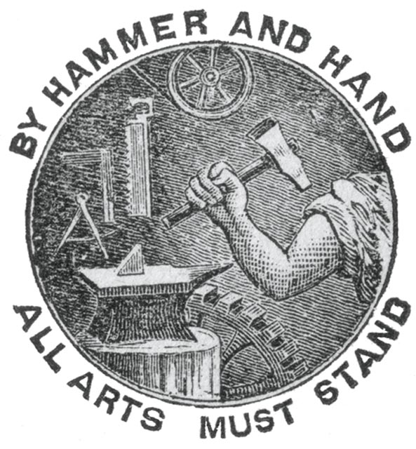 Motto and seal from Washburn's autobiography, ca. 1870