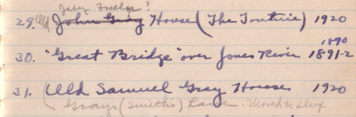 Selection from the notebook, ca. 1938