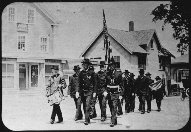 Grand Army of the Republic, Martha Sever Post No. 154 marching, circa 1914