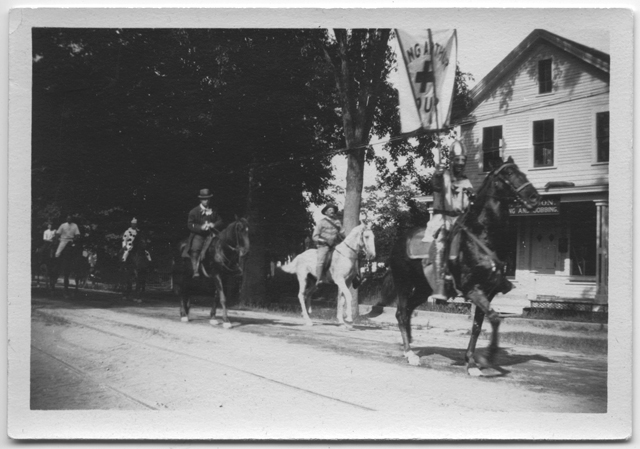 Riders in costume, Fourth of July parade, 1910