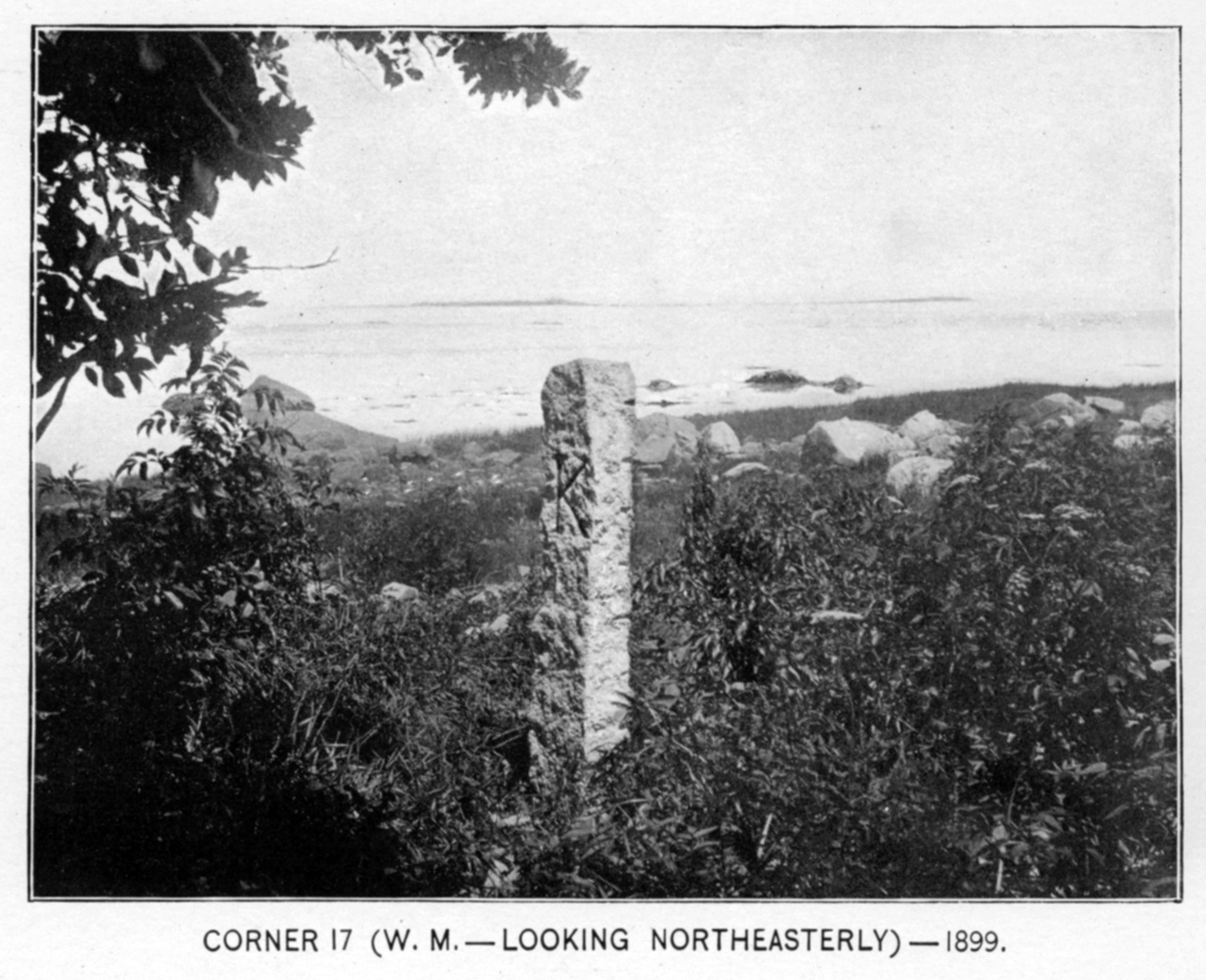 The witness stone at corner 17, near Kingston Bay, 1899