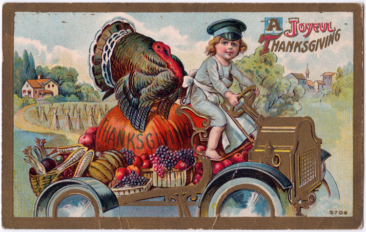 """A Joyful Thanksgiving,"" about 1911"
