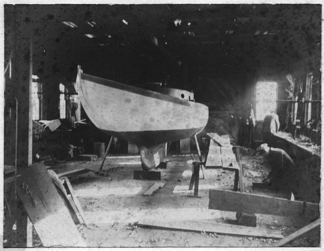 Boat shop interior, no date