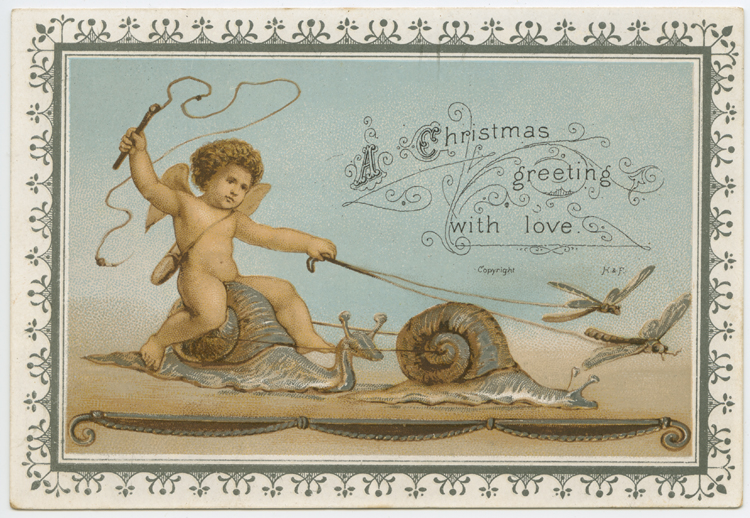 Christmas card from the Helen Foster Collection, no date