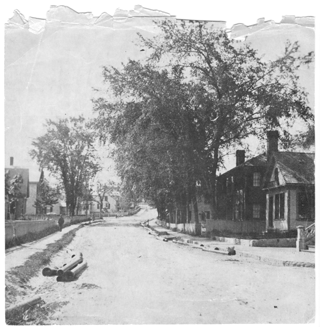 Summer Street looking toward Green, circa 1887