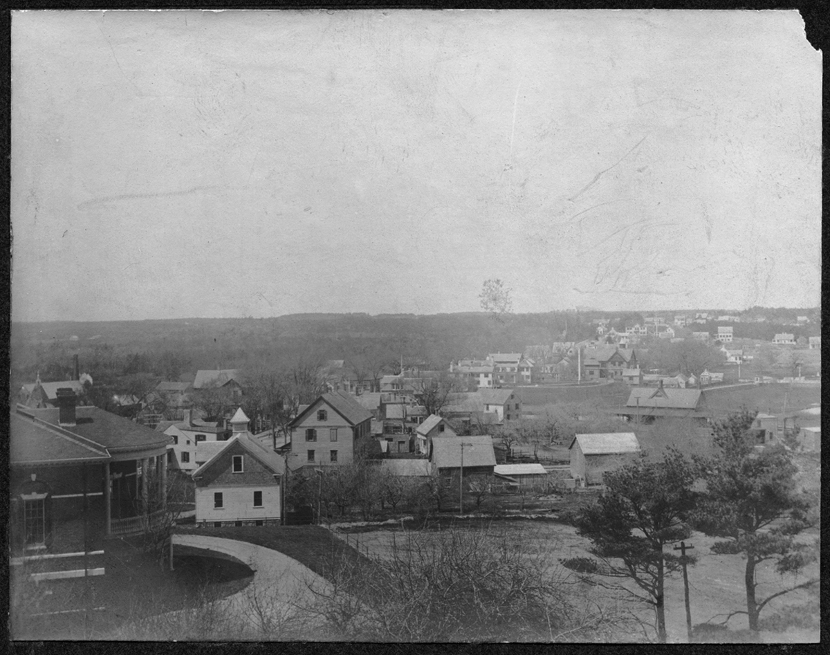 View of Kingston looking north from Horatio Adams' House, no date