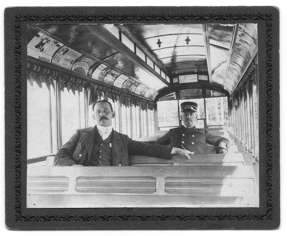 Inside a trolley, no date