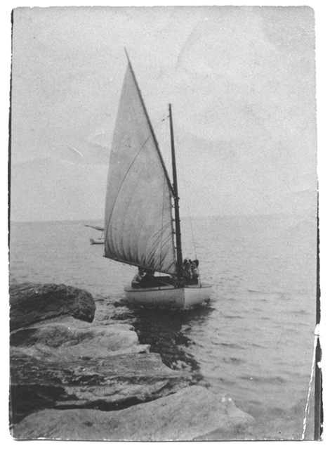 Sailboat on the water, no date