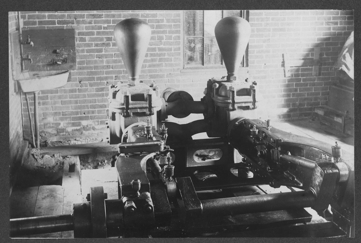 New pumping station machinery, 1906