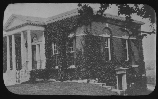 Frederic C. Adams Library, view from the south, no date.