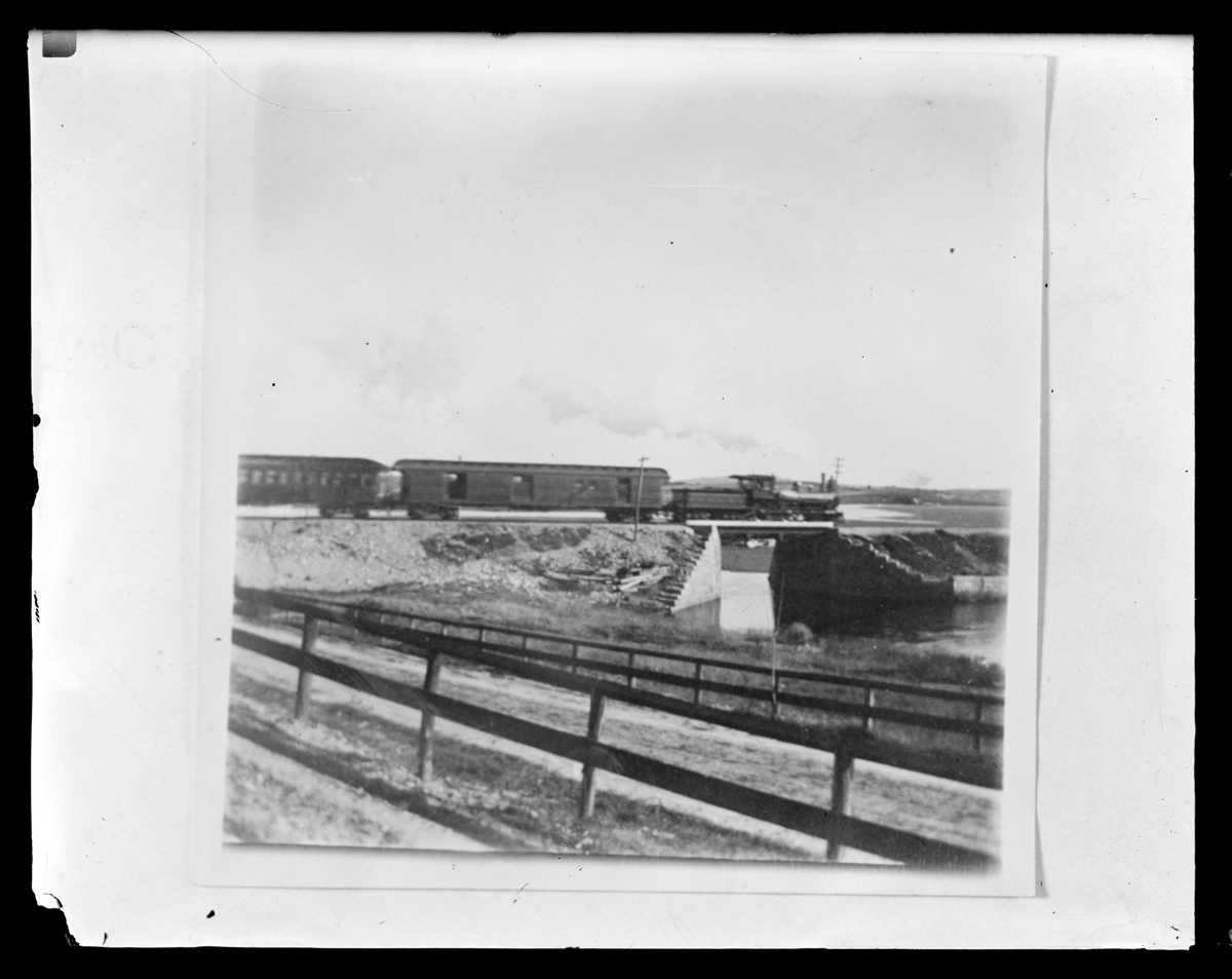 Train crossing the Jones River, no date