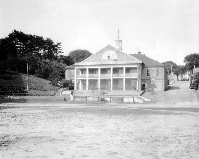 Reed Building, rear facade, circa 1935