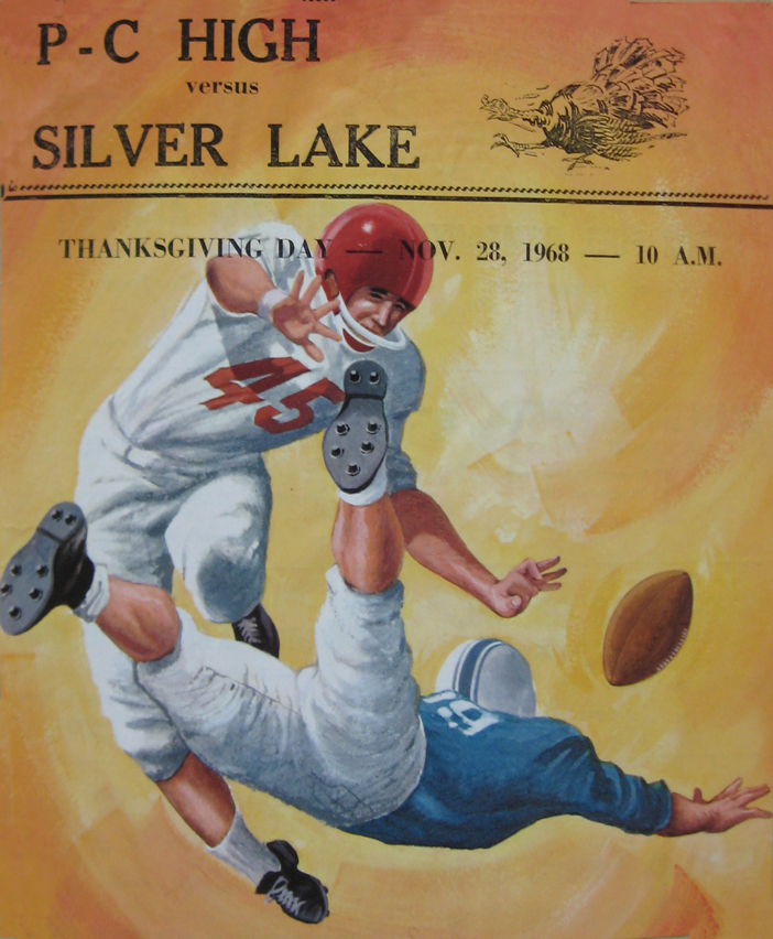 Program for Thanksgiving Day game, 1968