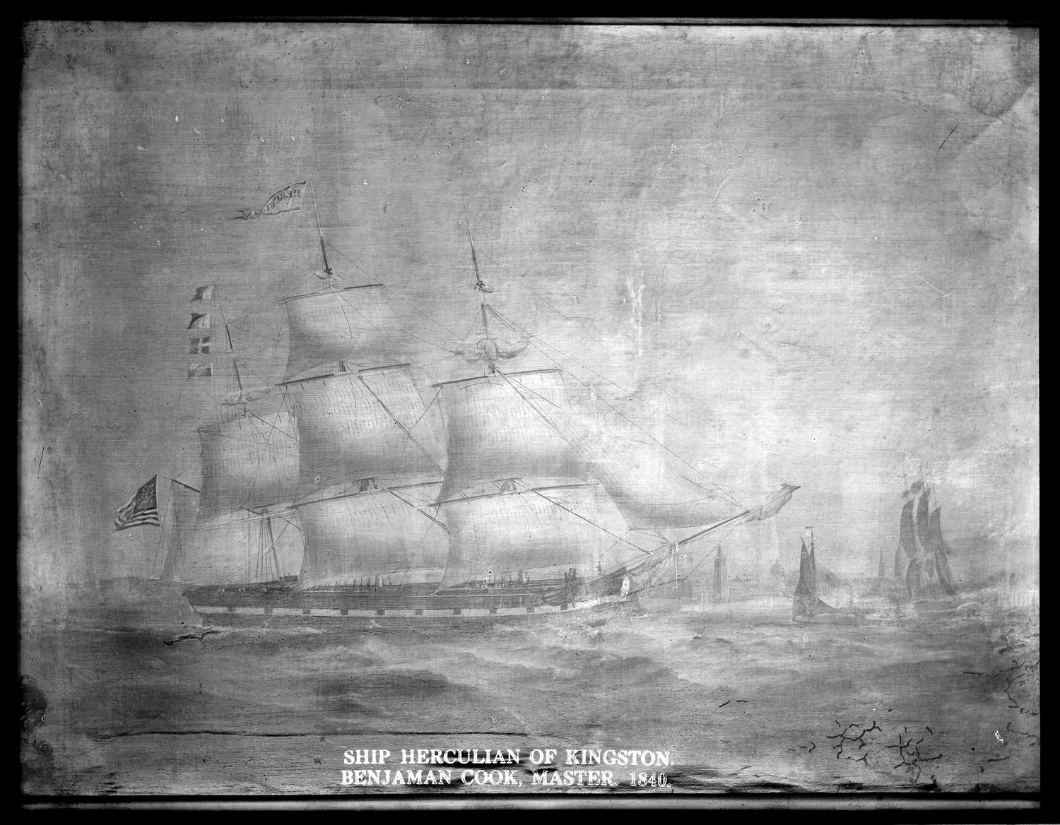 Ship Herculean of Kingston, Benjamin Cook, Master, 1840