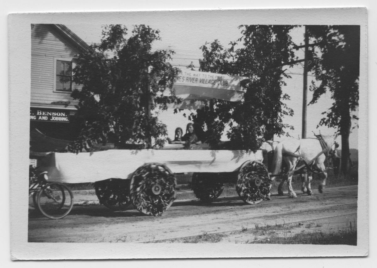 Jones River Village Club float, 4th of July Parade, 1910