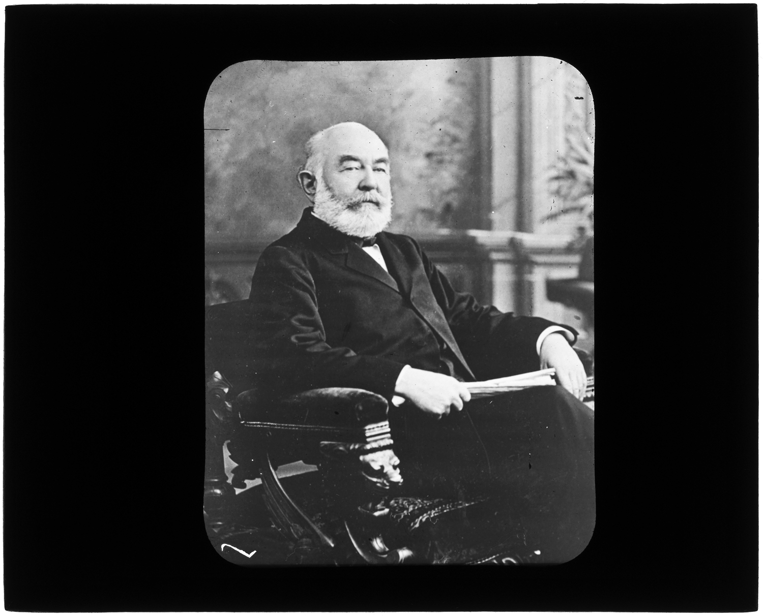 Henry R. Glover, seated portrait, circa 1890
