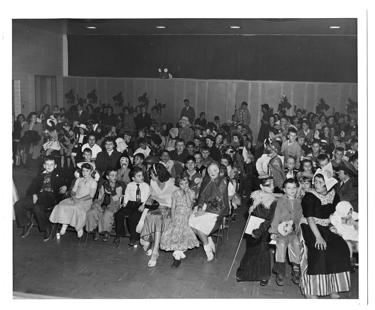 Halloween assembly at Kingston Elementary School, 1952