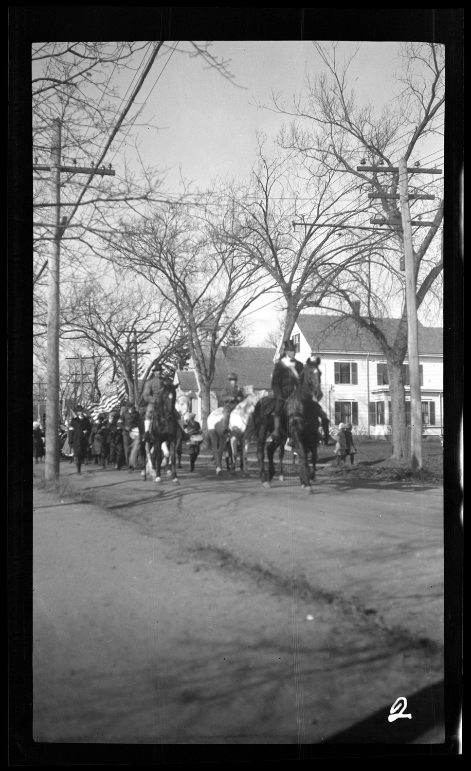 Riders and marchers in the Welcome Home parade, October 18, 1919.