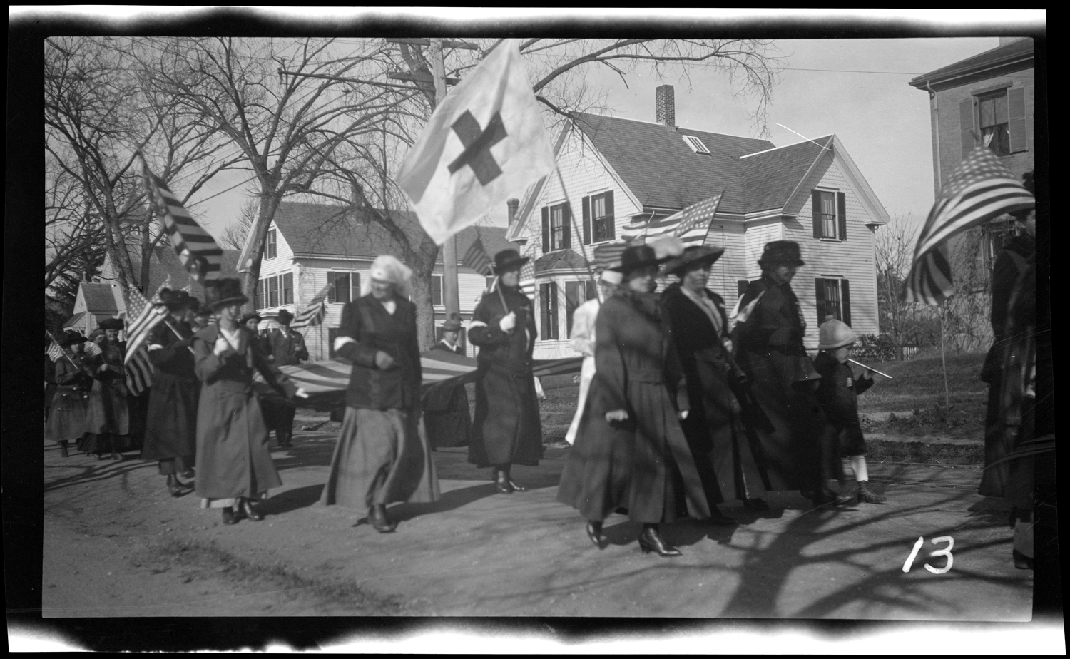 Marchers in the Welcome Home parade, October 18, 1919.