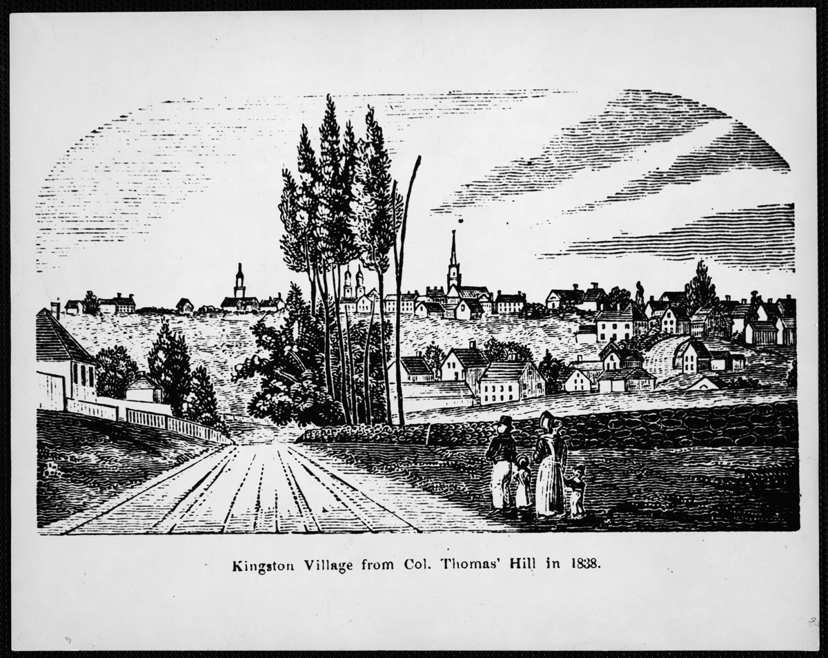 Kingston Village from Col. Thomas' Hill in 1838, reproduced 1975